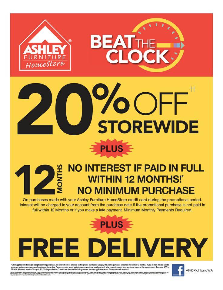 Beat The Clock Promotion. Black Friday Sale Ashley Furniture in Richland, WA is open 7am - 9pm November 29th, 2013! 1340 Tapteal Dr, Richland, WA 99352  #blackfridaydeals #blackfridaysale #sale #promotion #TriCities #Wa #TriCitiesWA #RichlandWA #Richland  #Yakima #WallaWalla