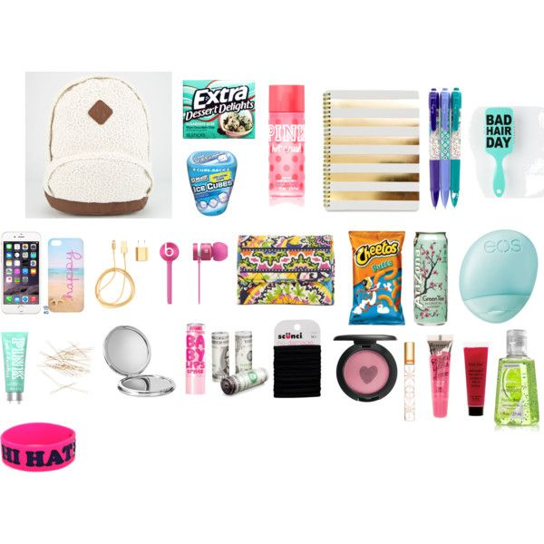 What's in my Backpack by abbygallen on Polyvore featuring polyvore, fashion, style, Vera Bradley, Beats by Dr. Dre, J.Crew, scunci, MAC Cosmetics, Rimmel, Maybelline, Tory Burch, philosophy, Victoria's Secret PINK, Eos, John Lewis and PhunkeeTree