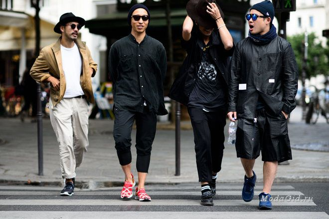 Уличная мода: Уличный стиль недели мужской моды в Париже сезона весна-лето 2016