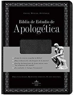Biblia de Estudio apologética negra con índice (imitación piel)