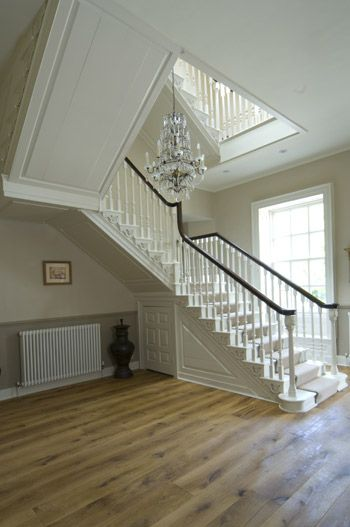 Modern Country Style: Case Study: Farrow and Ball White Tie Click through for details.