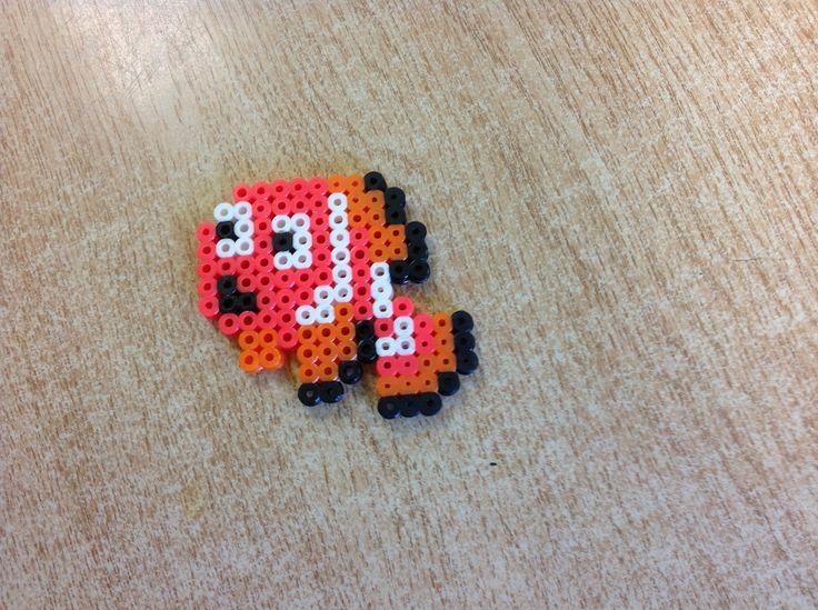Mini Nemo perler bead by Amanda Collison