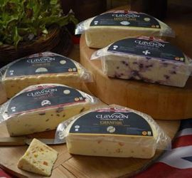 Clawson White Stilton with Fruit - A range of White Stilton cheeses combined with real fruit.