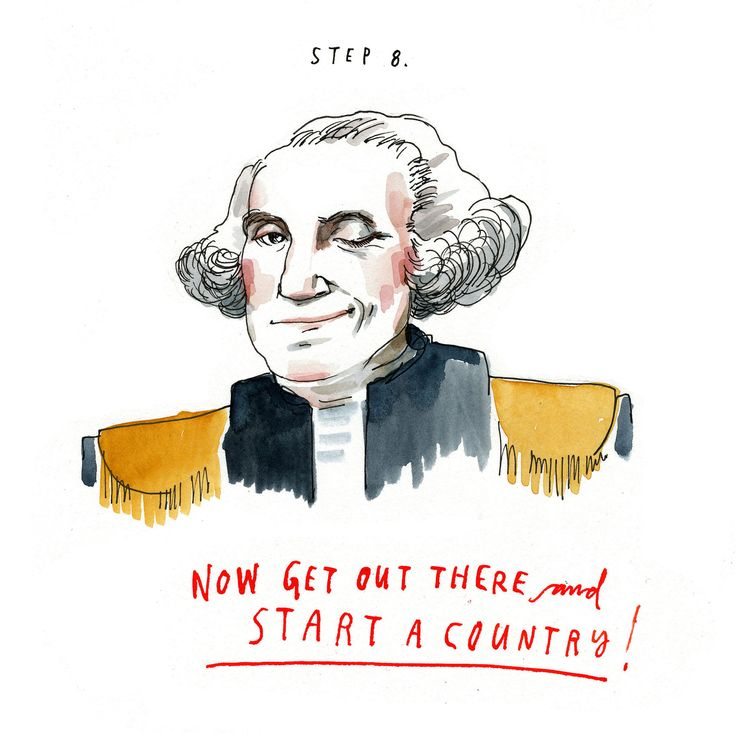 Illustration of George Washington winking with his hair perfectly fixed