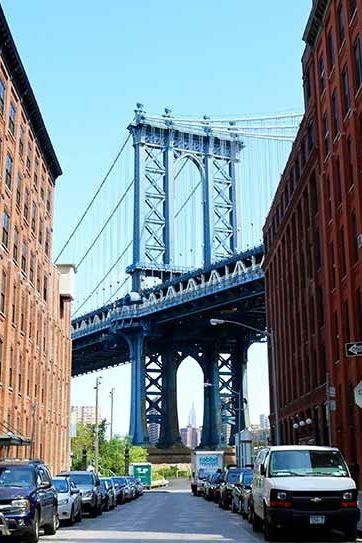Washington St., Brooklyn (Dumbo) The 9 Most Beautiful Streets in New York City via @PureWow