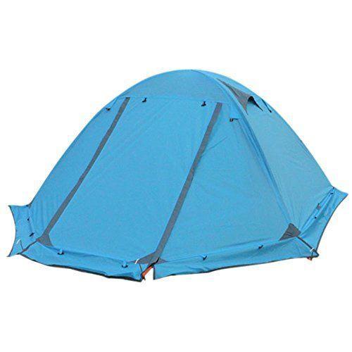 4-season 2-person Ultralight Waterproof Tent and Footprint - Perfect for Backpacking Kayaking Camping and Trekking/Double Layer Tent/Riding/Hiking/Camping/Lightweight Backpacking Tents (Blue). For product & price info go to:  https://all4hiking.com/products/4-season-2-person-ultralight-waterproof-tent-and-footprint-perfect-for-backpacking-kayaking-camping-and-trekking-double-layer-tent-riding-hiking-camping-lightweight-backpacking-tents-blue/