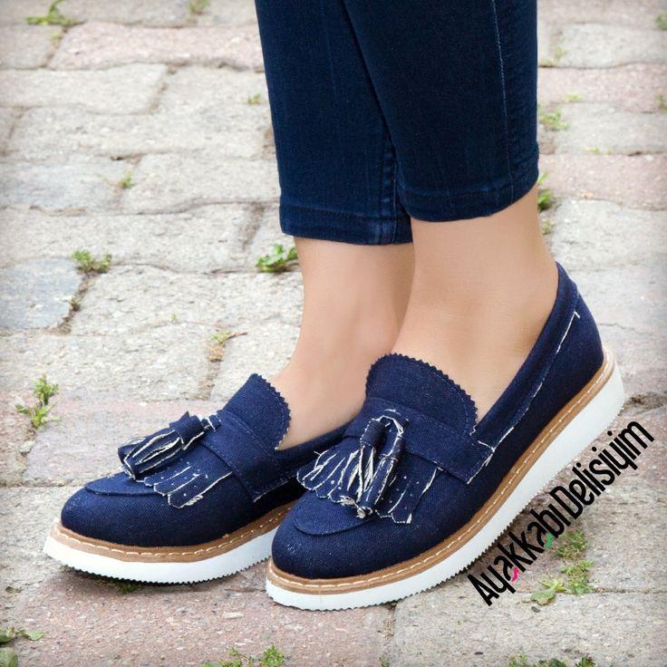 Püsküllü Keten Loafer Ayakkabı #shoes