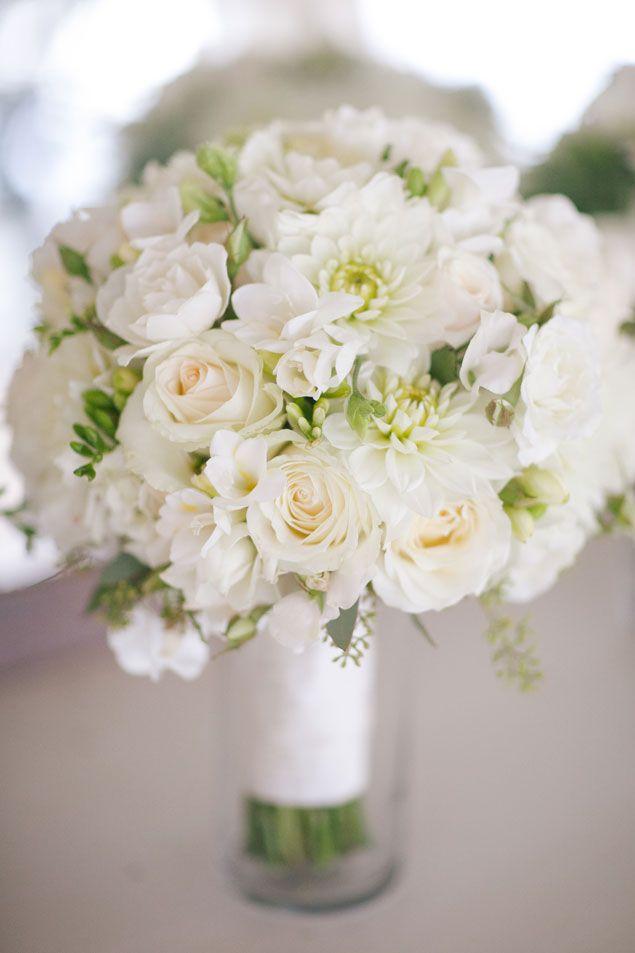 White bridal bouquet photo source portrait design by for One flower bridal bouquet