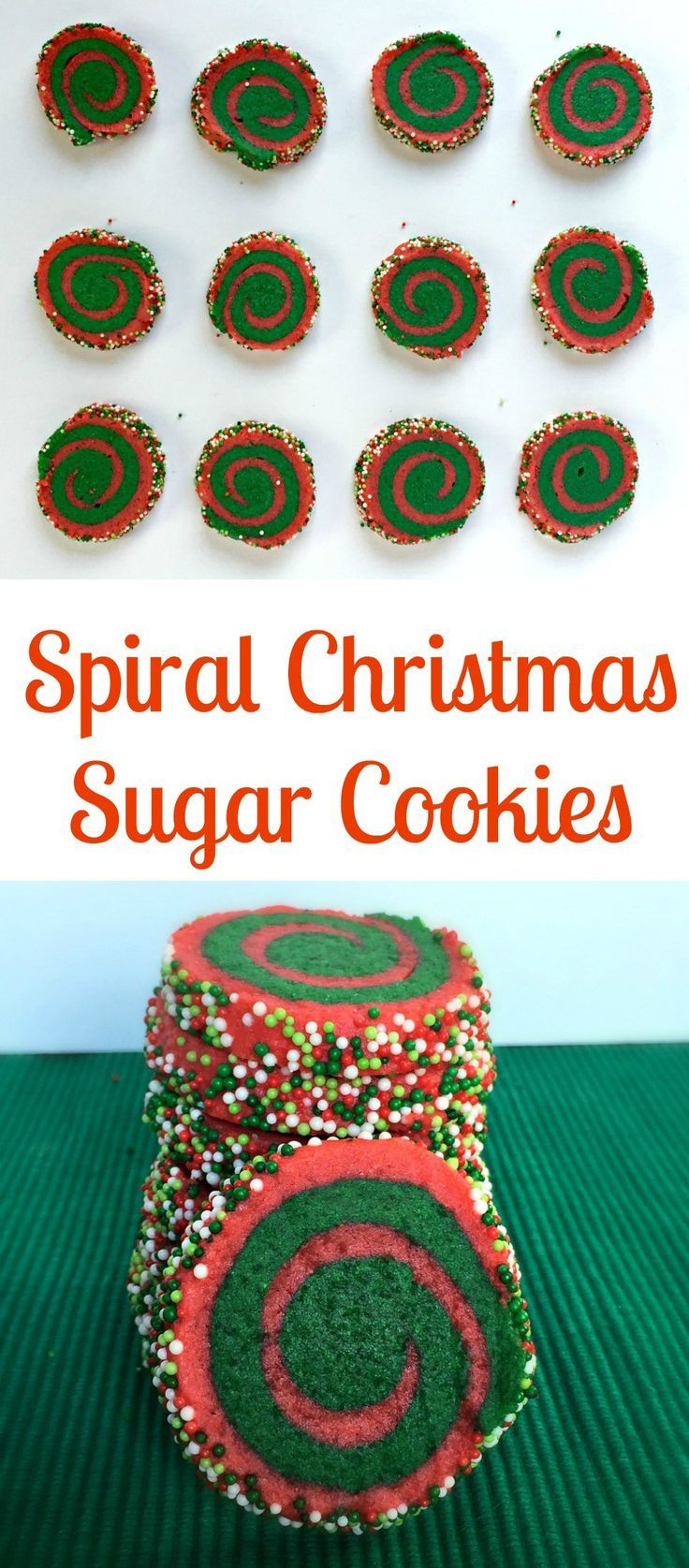 Spiral Christmas Sugar Cookies