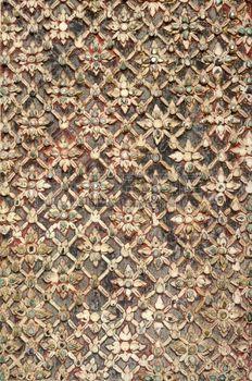 Alten Lanna-Muster; Wat Duang Dee Chiangmai Thailand photo