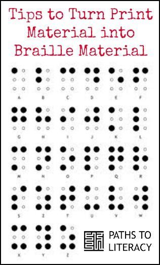 Helpful guidelines to turn print materials into braille format