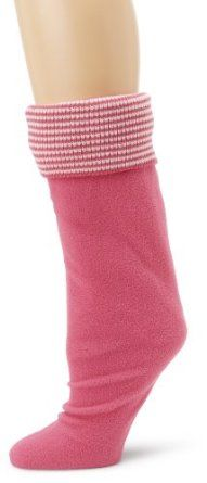 Betsey Johnson Women's Thin Stripe Cuff Calf Length Welly Sock, Hot Pink, Small/Medium Betsey Johnson. $20.00