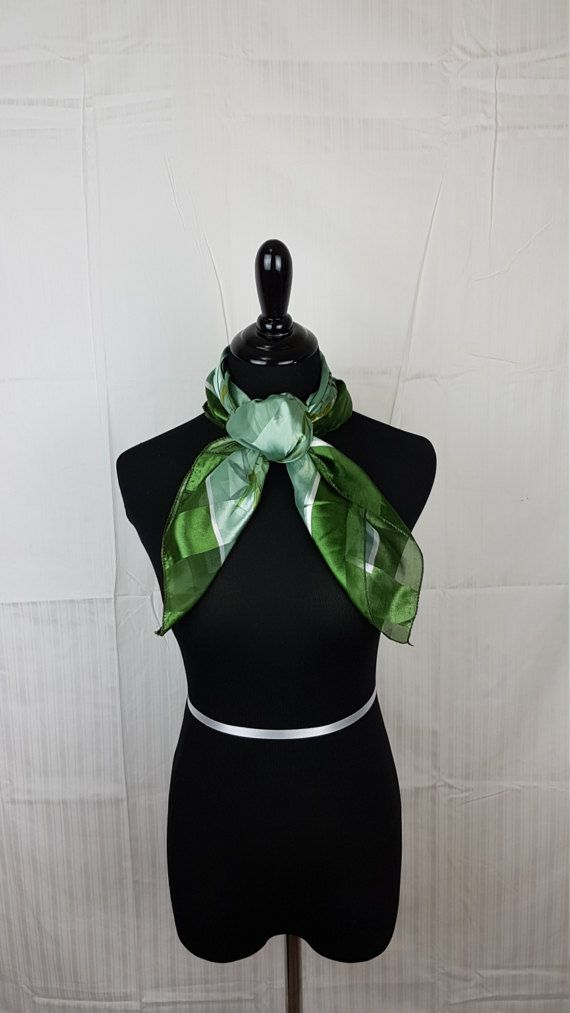 Shimmer Green Bamboo Print Square Polyester by Obsess4Accessories