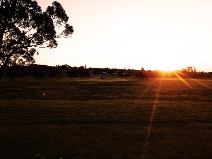 Beautiful Swartland sunset.