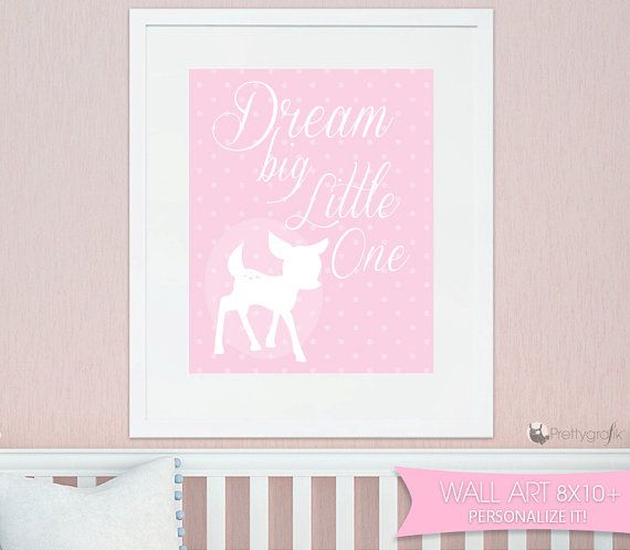 SALE Baby deer Art print personalized wall by PrettygrafikGifts