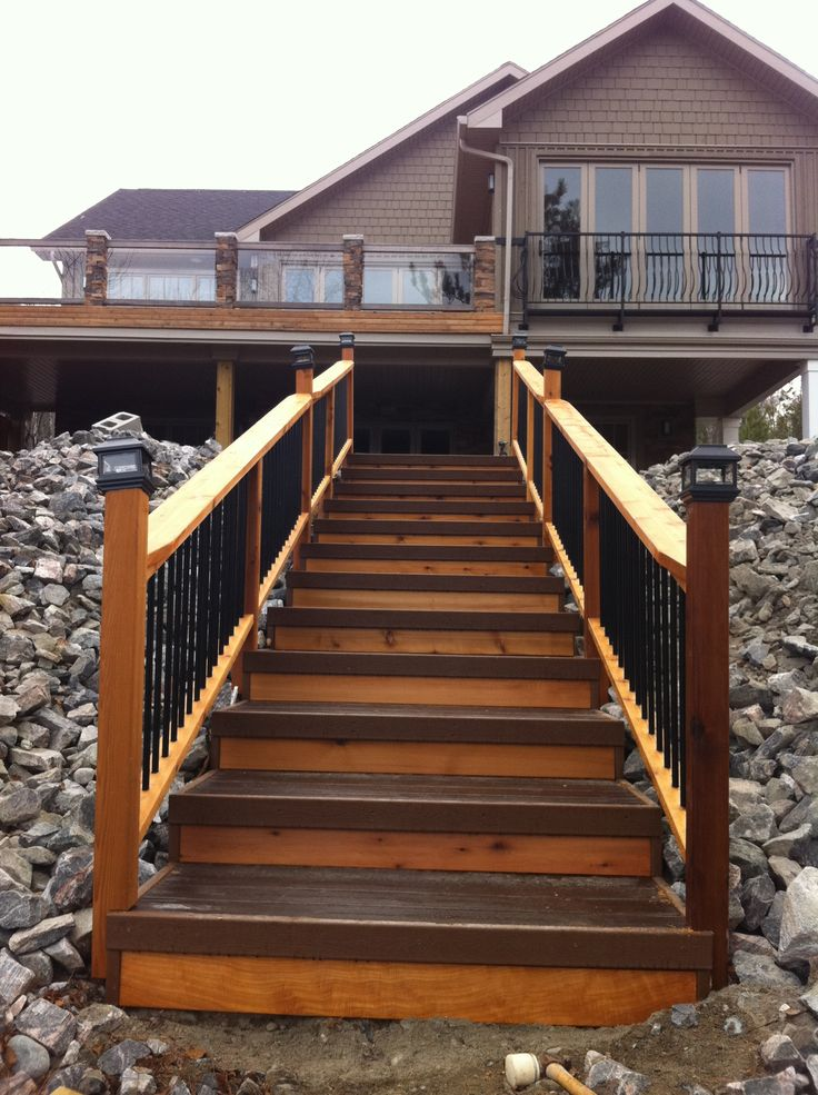 1000 images about outdoor stairs on pinterest the for Outdoor composite decking