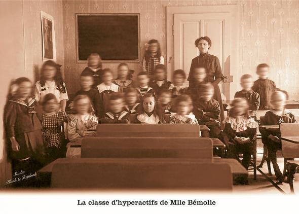 La Classe d'hyperactifs de Mlle Bémolle, carte de Plonk et Replonk.