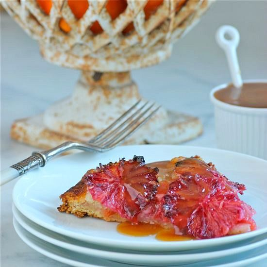 Flaky Blood Orange Tart -- a must during the winter!