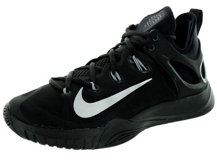 Nike Men\u0027s Zoom Hyperrev 2015 Black/Metallic Silver Basketball Shoe 9 Men Us