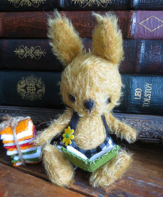 Smarty II Mohair Soft Teddy Bunny by ReTeTeer on Etsy