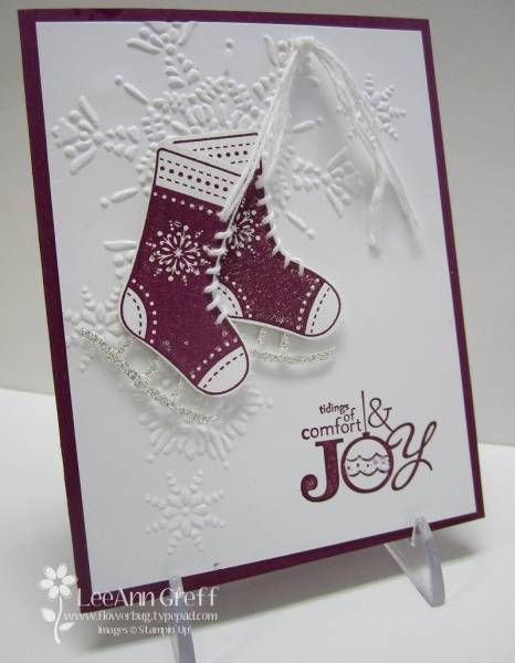 Stocking Ice Skates by flowerbugnd1 - Cards and Paper Crafts at Splitcoaststampers