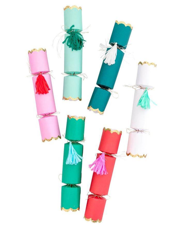 Festive Holiday Confetti Crackers