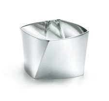 Frank Gehry® Torque wide bangle in sterling silver, medium. | Tiffany & Co.