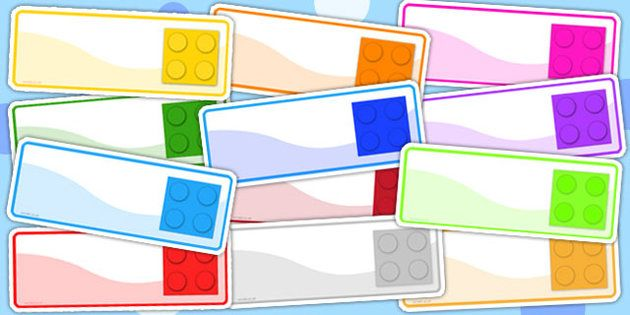 Twinkl Resources >> Lego Themed Drawer Peg Name Labels << Classroom printables for Pre-School, Kindergarten, Primary School and beyond! Print, printables, teacher, teacher resources, help, school, school activities, worksheets, name tags, signs, display, tags, stickers, lego, themed, lego themed, colour, bricks, names, editable,