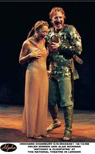 Photo of Alan in Antony & Cleopatra :* for fans of Alan Rickman. 1998
