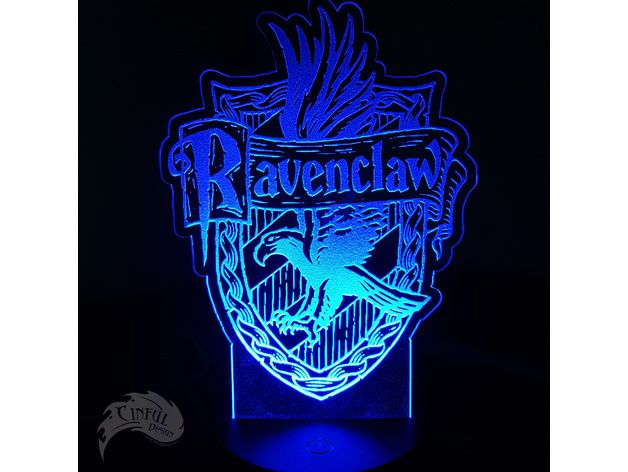 Ravenclaw House Crest Led Lamp Plate By Cindyhodesigns Thingiverse Ravenclaw House Ravenclaw Crest