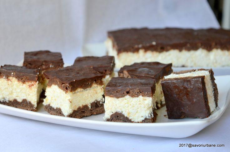Prajitura Rudi cu branza si ciocolata reteta pas cu pas. O prajitura cu aluat fraged cu cacao, crema de branza de vaci si glazura generoasa de ciocolata.