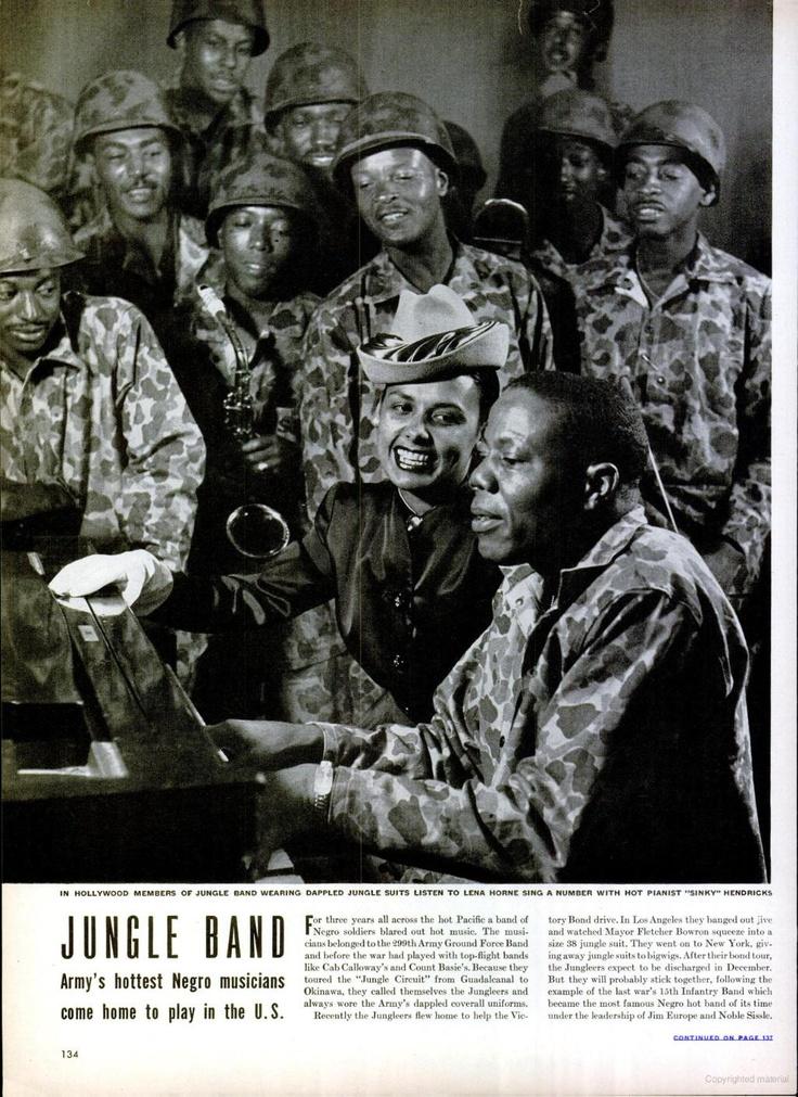 Lena Horne + the Jungle Band - LIFE 5 Nov 1945