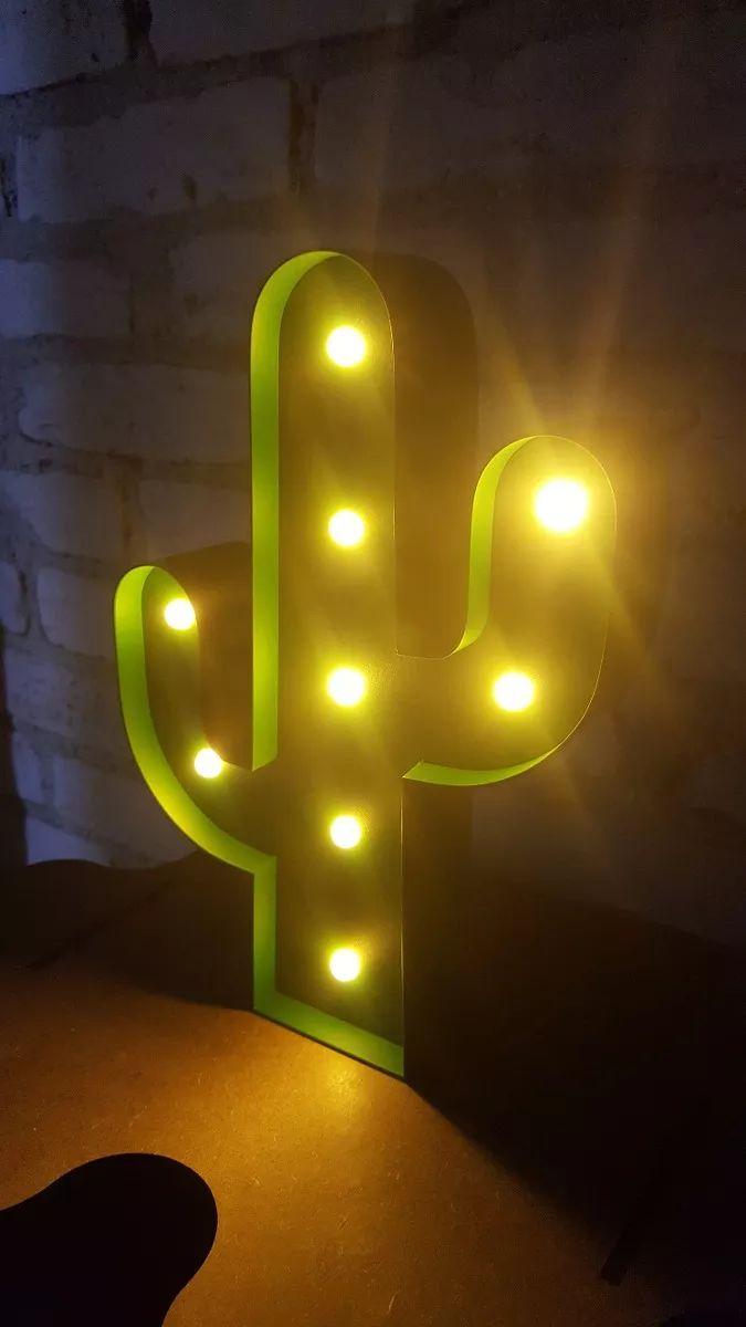 luminária cactos  led