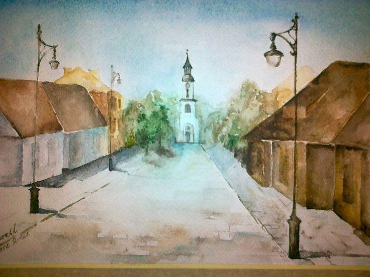 watercolor painting, Supraśl