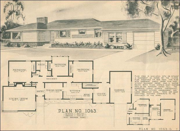50s Ranch House Plans New 1950 Modern Ranch Style Home Building Plans House Ranch Style House Plans Ranch Style Homes