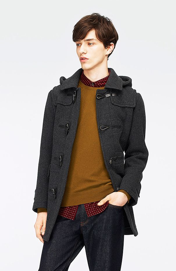 Uniqlo wool blended duffle coat | style | Pinterest | Duffle Coat