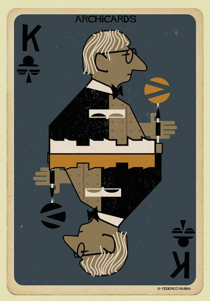 Illustrated Cards of Architects Portraits – Fubiz Media