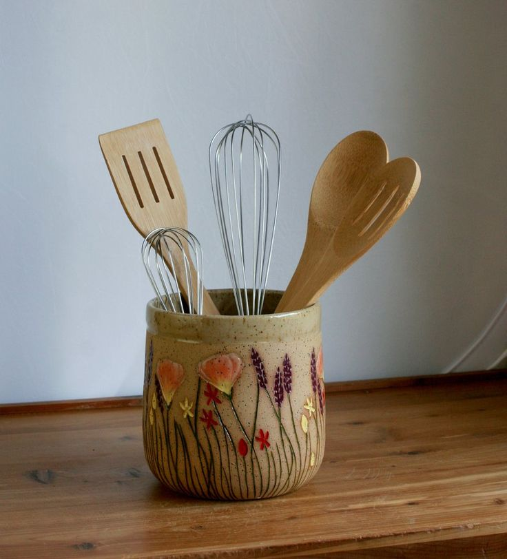 25 best ideas about utensil holder on pinterest kitchen utensil holder utensil storage and - Unique kitchen utensil holder ...