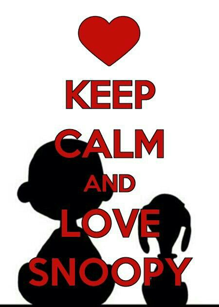 Keep calm and ❤ love Snoopy.
