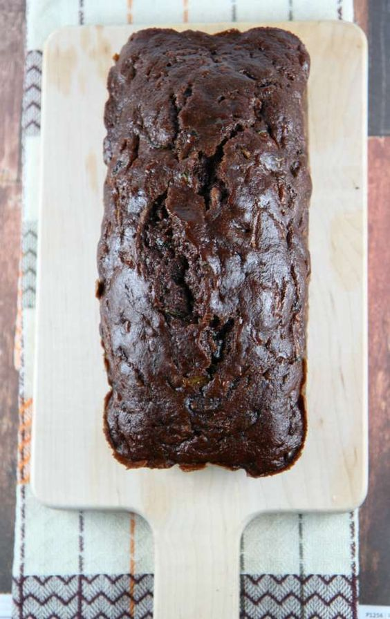 Chocolate Chip Zucchini Bread :: Chocolate lovers will love the double chocolate goodness in this zucchini bread. Sit back and slice up a piece of this healthy and delicious bread. You love chocolate chip bread – why not make them a little healthier without sacrificing the taste? This Zucchini Double Chocolate Bread is a great way to do just that!