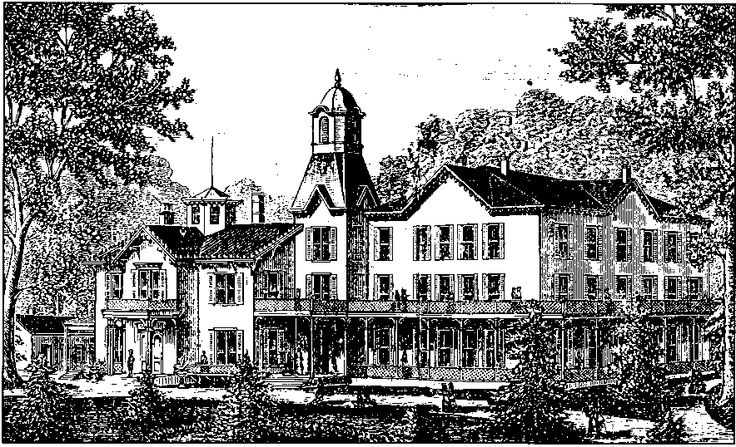 "The Lloydsboro Seminary is the setting for The Little Colonel at Boarding School. This view is of the original ""Kentucky College for Young Ladies"" (sketch from The Oldham Index, August 22, 1890)."