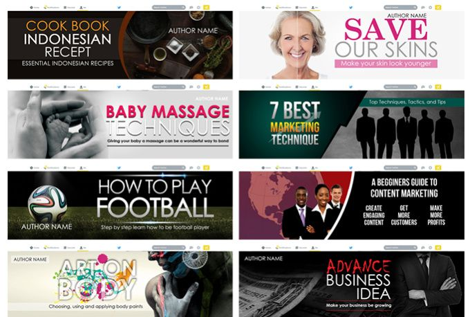 design a PROFESSIONAL Facebook or Twitter Banner by ebooks_covers