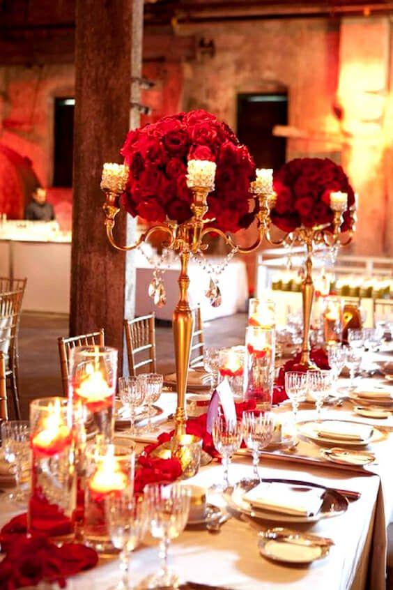 boda en rojo: decoración, centros de mesa e ideas fabulosas | 15