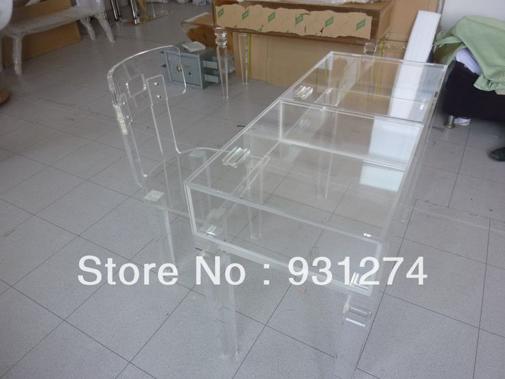 Acrylic Vanity Table Lucite Desk With Storage Drawer