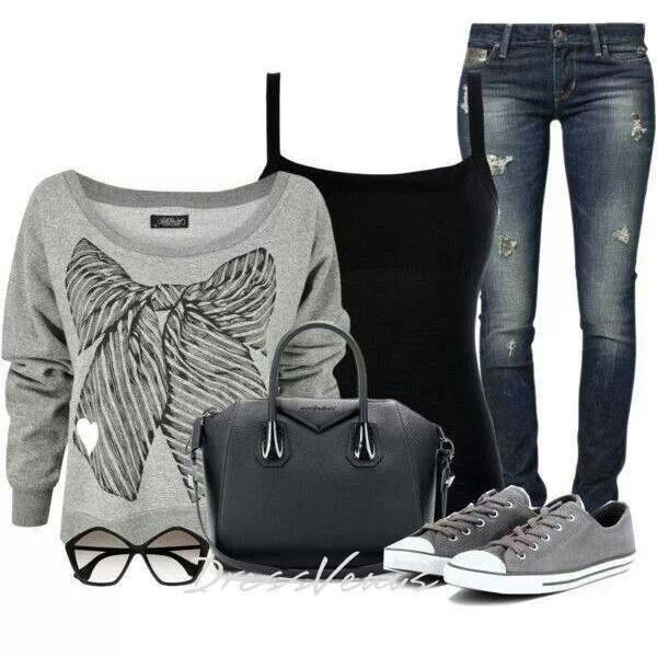1000+ ideas about Grey Converse Outfits on Pinterest ...