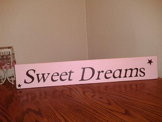 "Light Pink ""Sweet Dreams"" Sign"