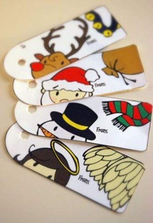 etiquetas imprimibles ¡y gratis para regalos de Navidad
