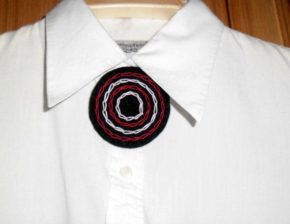 Handmade felt brooch for women. Gift for Christmas. by EmisaFelt