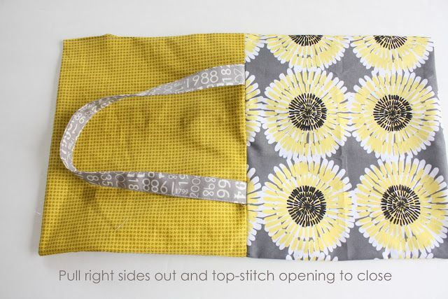 A different way to put together a simple bag, from the side, not the top. Diary of a Quilter - a quilt blog: Easy Fat Quarter Bag Tutorial
