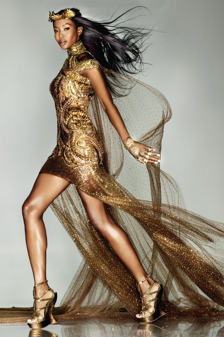 #Vogue British - The Midas Touch (Olympic)    by Knick Knight  #Naomi Campbell